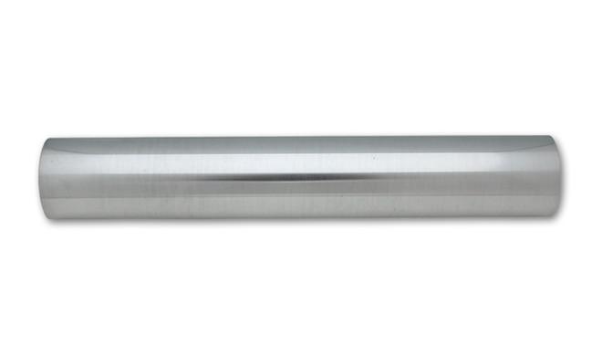 "Vibrant 1.75"" O.D. Aluminum Straight Tubing, 18"" Long - Polished"