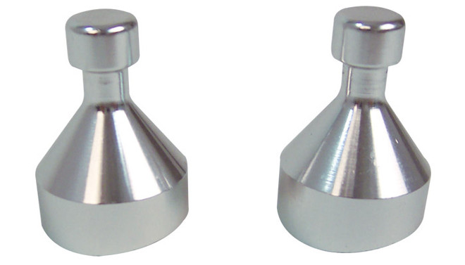 Vibrant Pair of Aluminum Mounting Feet for Boost Brace