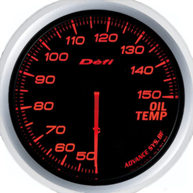 Defi Advance BF 60mm Oil Temp Gauge Red
