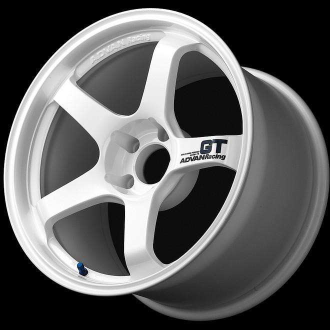Advan GT 18x12.0 +27 - 5x114.3 - Semi-Gloss Black / Racing White