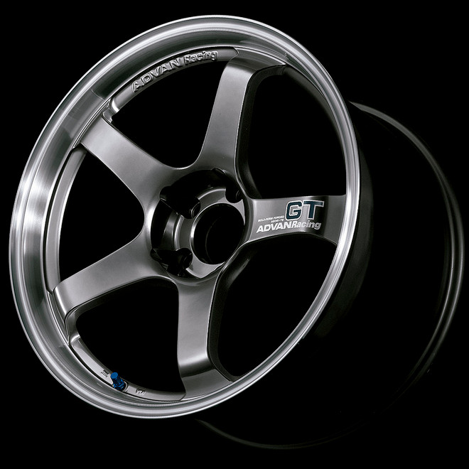 Advan GT 18x10.5 +24 - Racing Metal Black with Machined Lip