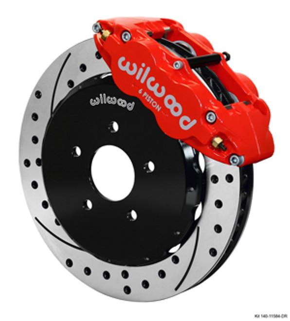 Wilwood Forged Narrow Superlite 6R Drilled & Slotted Big Brake Kit -09-14 Nissan 370Z