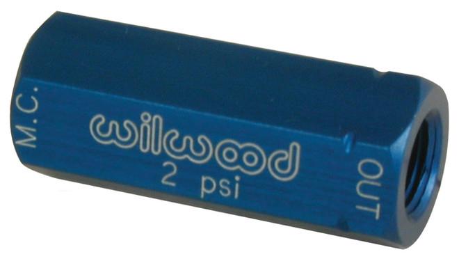 Wilwood Residual Pressure Valve - 2 psi / Blue