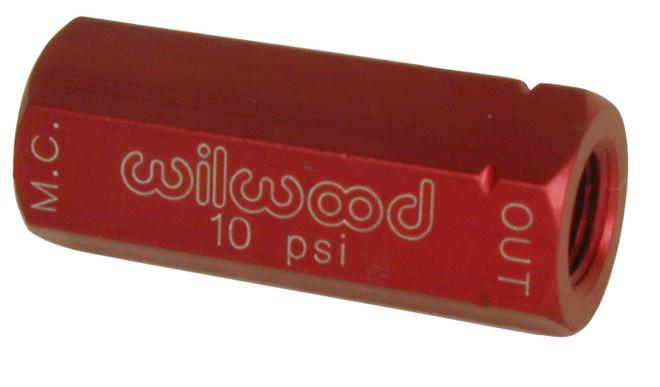 Wilwood Residual Pressure Valve - 10 psi / Red