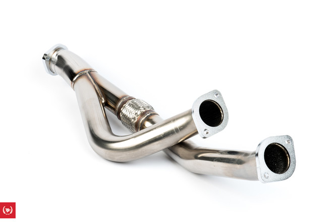 HKS Polished Stainless Steel Downpipe - Nissan Skyline GTR R32 R33