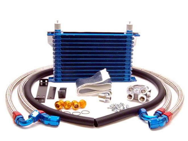 GReddy 16 Row Oil Cooler Kit with Filter Relocation - 95-98 Nissan Skyline R33