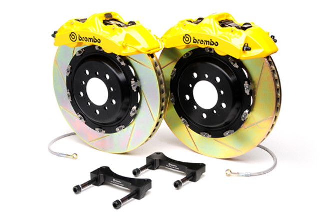 Brembo Yellow Front Slotted Big Brake Kit - 99-02 Nissan Skyline GT-R R34