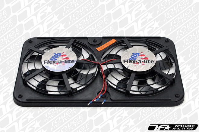"""Flex-a-lite FAL Dual Shrouded 12"""" Electric Radiator Cooling Fans - Puller"""