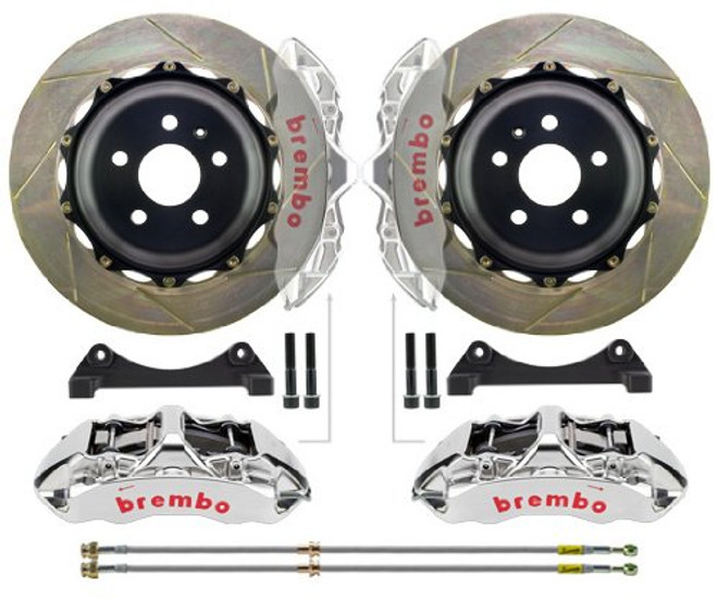 Brembo GT-R Front Slotted Big Brake Kit 355 x 32mm - 03-06 Mitsubishi Evolution 8/9