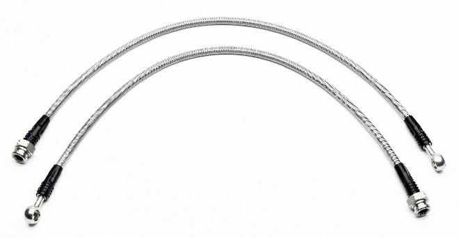 Wilwood Flexline Brake Line Kit w/ OEM Front Caliper - 03-05 Mitsubishi Evolution 8