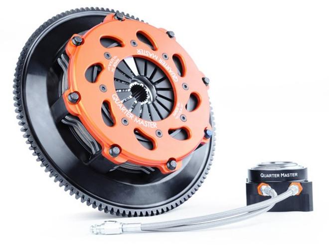 QuarterMaster 8-Leg Race Clutch w/ Flywheel & Release Bearing - 03-06 Mitsubishi Evolution 8/9