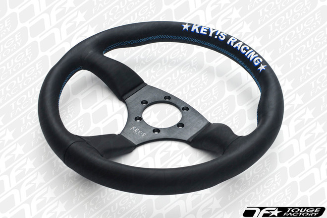 KEY'S RACING Semi-Deep Semicone Type Steering Wheel (350mm/Leather)
