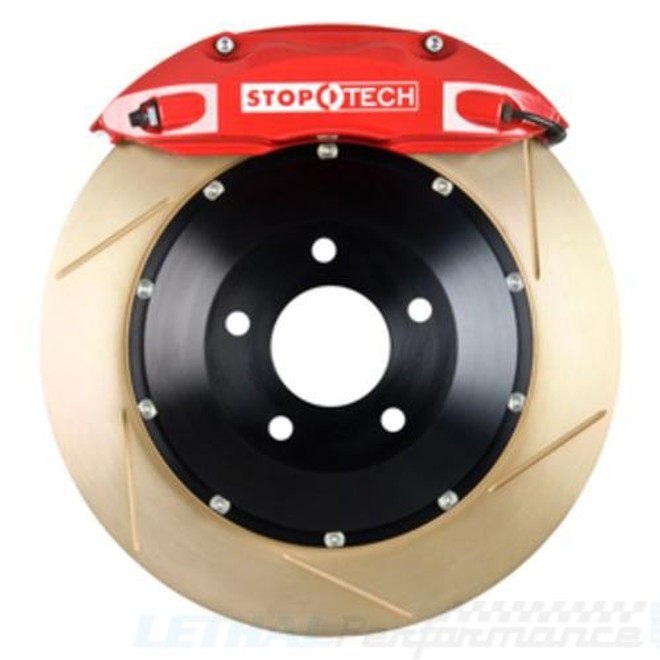 StopTech Red Front Slotted Coated Big Brake Kit 355x32mm - 08-13 Mitsubishi Evolution X