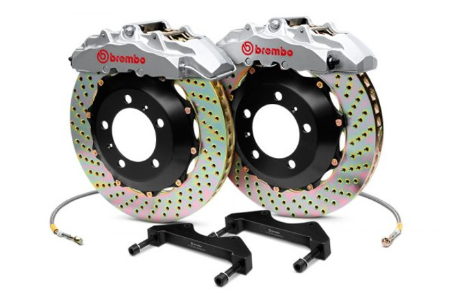 Brembo GT Silver Drilled Front Big Brake Kit 380x32mm - 08-15 Mitsubishi Evolution X