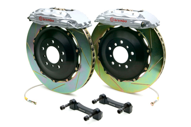 Brembo GT Silver Slotted Front Big Brake Kit 350x34mm - 08-15 Mitsubishi Evolution X