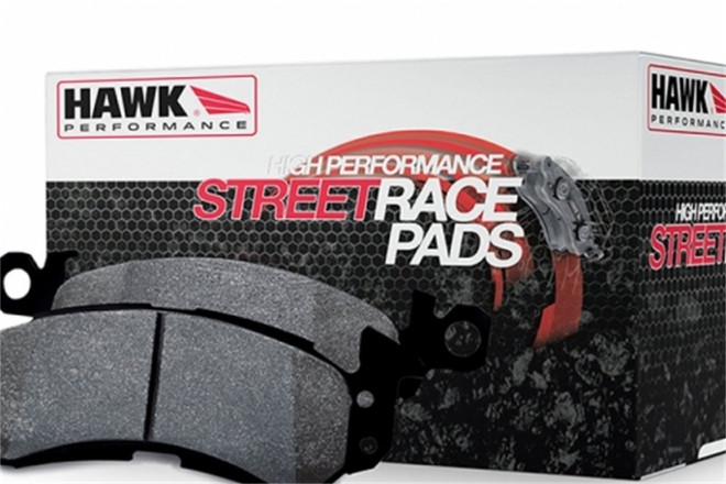 Hawk High Performance Street Race Rear Brake Pad - 08-15 Mitsubishi Evolution X