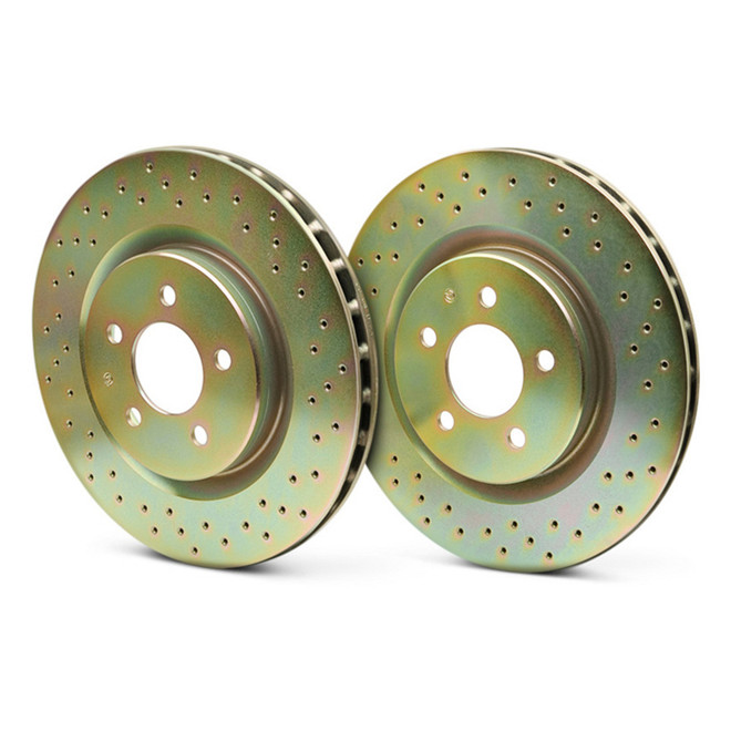 Brembo Sport Drilled Front Rotors - 08-14 Mitsubishi Evolution X
