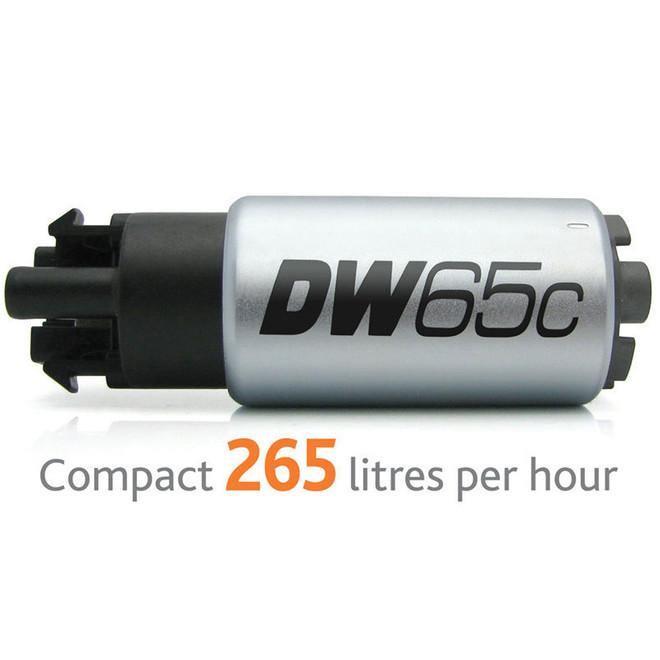 DeatschWerks DW65c Compact In-Tank Fuel Pump w/ 9-1026 install kit - 08-15 Mitsubishi Evolution X