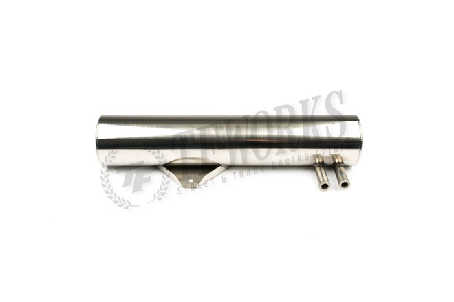 GKTECH - S13 240SX OVER THE RADIATOR OIL CATCH CAN - BLACK/POLISHED