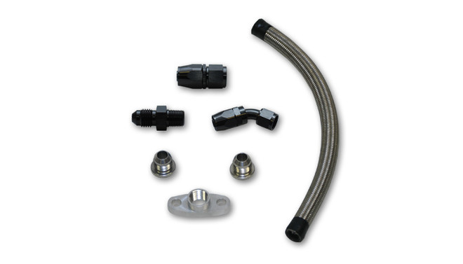 "Vibrant Universal Oil Drain Kit for T3/T4 Turbos (12"" long line)"