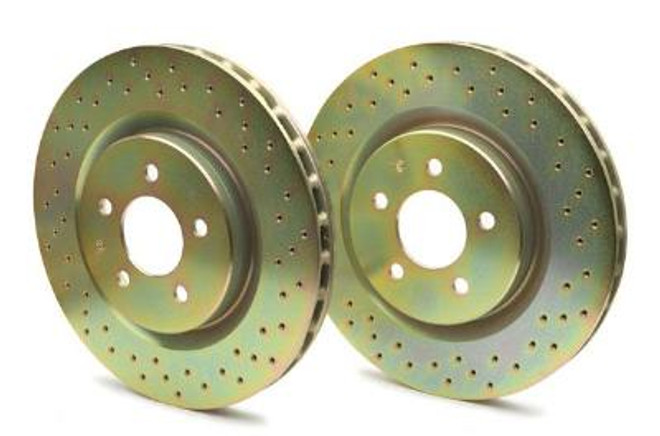 Brembo Sport Cross Drilled 1-Piece Front Brake Rotors - 93-95 Mazda RX-7