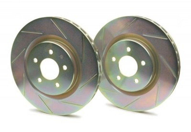 Brembo Sport Cross Slotted 1-Piece Front Brake Rotors - 93-95 Mazda RX-7
