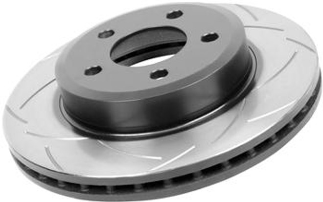 DBA Street Series Slotted Disc Front Brake Rotor - 93-95 Mazda RX-7