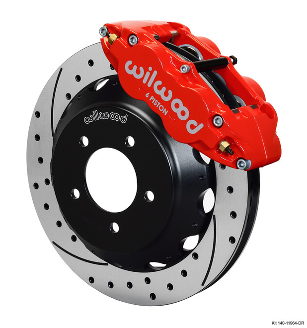 Wilwood Red Front Drilled Superlite 6R Big Brake Kit 12.88x1.1in - 93-95 Mazda RX-7