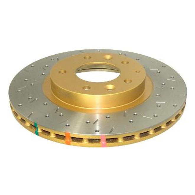 DBA 4000 Series Front Drilled and Slotted Disc Brake Rotor - 06-12 Mazda MX-5 Miata