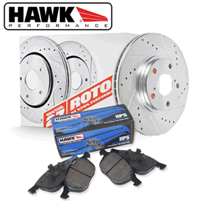 Hawk Performance Rear Brake Rotor with HPS Pad Kit - 06-13 Lexus IS250