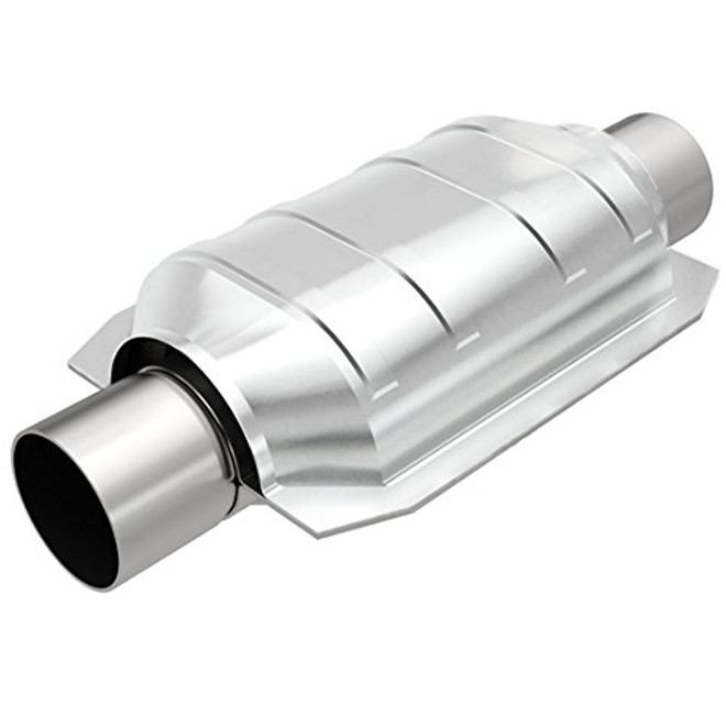 MagnaFlow Large Stainless Steel CA Legal Universal Fit Catalytic Converter - 92-94 Lexus SC300/SC400