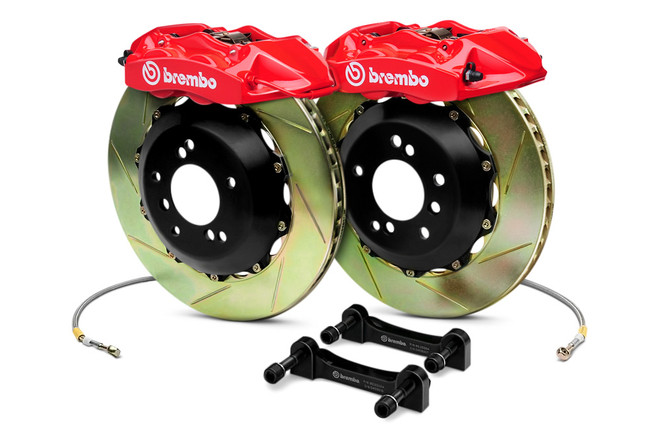 Brembo GT Red Slotted Front Slotted Big Brake Kit (Only for use with OEM Rear Brakes)  - 02-14 Subaru Impreza STI