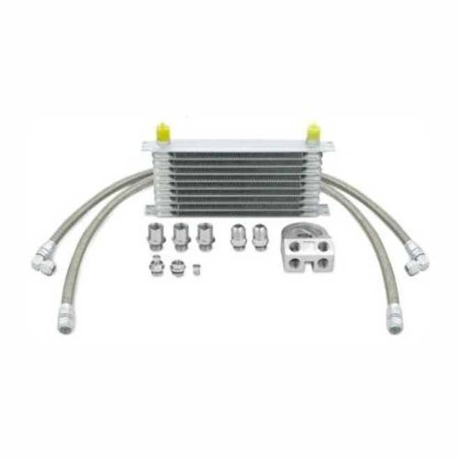 Mishimoto Silver Thermostatic Oil Cooler Kit - 02-05 Subaru WRX/STI