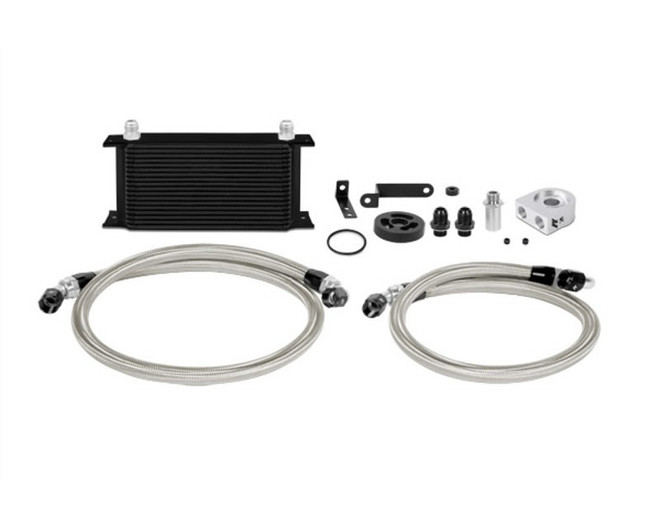 Mishimoto Black Oil Cooler Kit - 08-14 Subaru Impreza STI