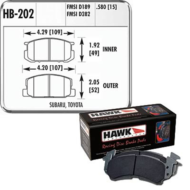 Hawk Performance Blue 9012 Front Brake Pad - 85-87 Toyota Corolla AE86