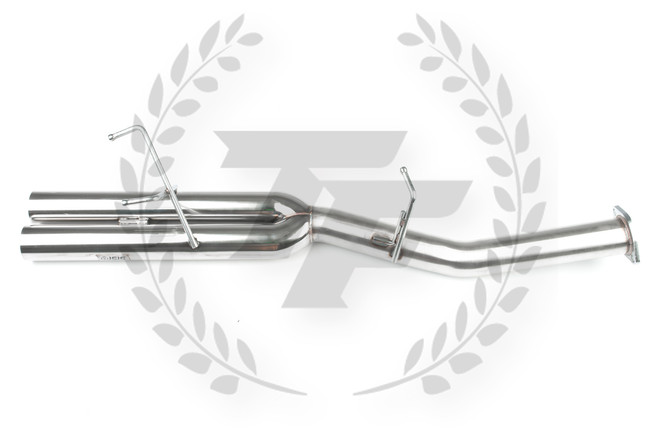 "ISR Straight Dual 3"" Dual Tip Exhaust Blast Pipe - 89-94 Nissan 240SX S13"
