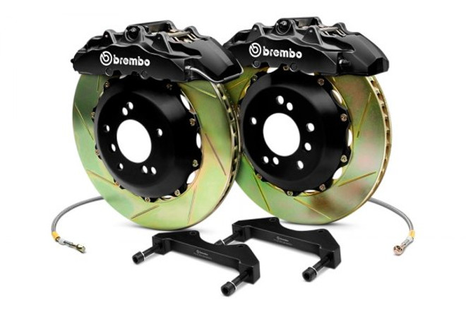 Brembo GT Black Front Slotted Brake Kit 355x32mm - 07-08 Infiniti G35 / 08-13 G37, 09-16 Nissan 370Z