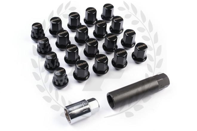 Rays Racing 17 Hex Lock & Lug Nut Set - Black