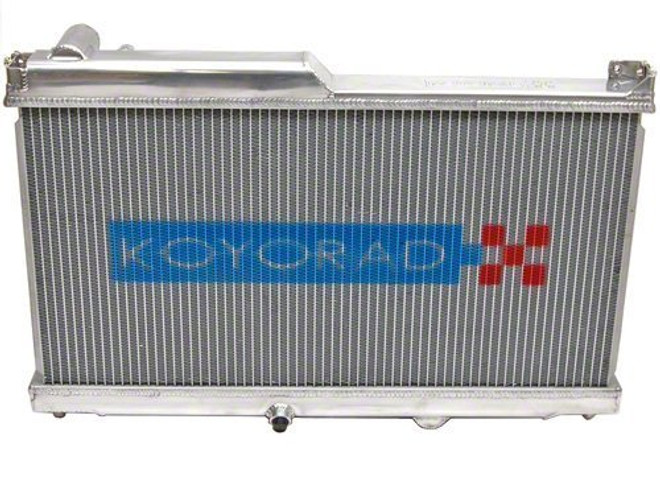 Koyo Aluminum Racing Radiator - 93-95 Mazda RX-7 1.3L Turbo