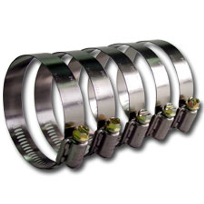"""Stainless Steel Screw Worm Clamp - 3.50"""""""