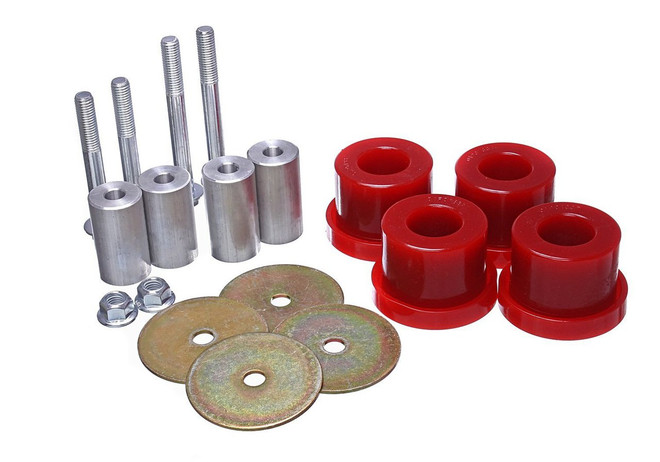 Energy Suspension Red Rear Differential Carrier Bushing Set - 2015 Ford Mustang GT