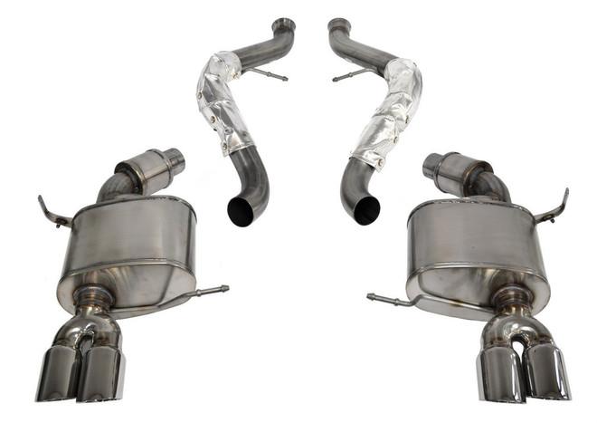 CORSA Sport Cat-Back Exhaust System- Black Tips - 08-12 BMW E92