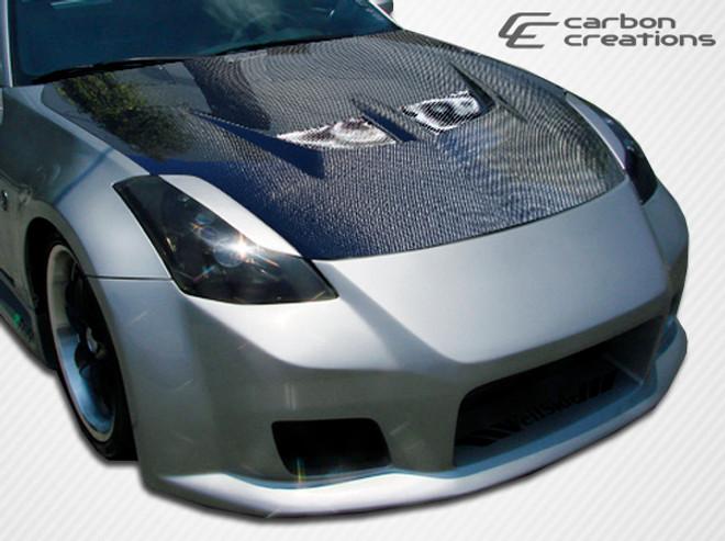 Carbon Creations 1 Piece Evo Hood -  03-06 Nissan 350Z