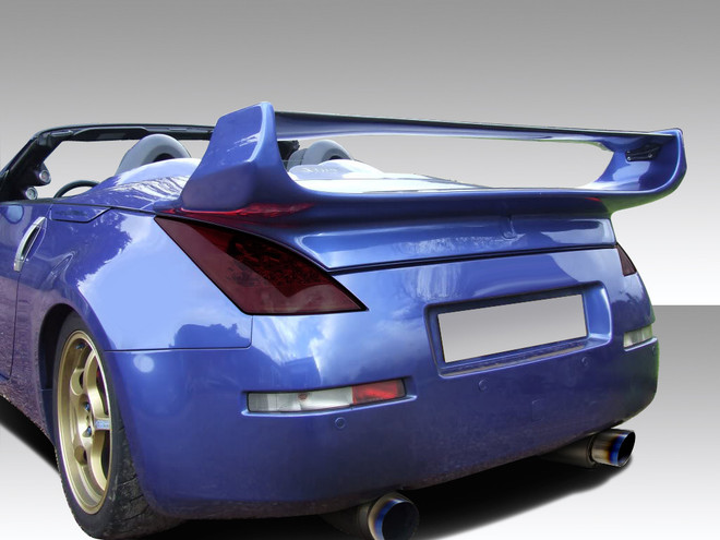 Carbon Creations 1-Piece Vader 3 Rear Wing Trunk Lid Spoiler - 03-08 Nissan 350Z Convertible