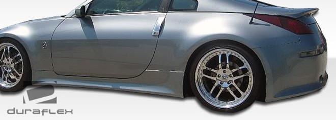Duraflex 2-Piece V-Speed Side Skirts Rocker Panels - 03-08 Nissan 350Z