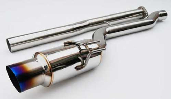 Invidia Racing Single Layer Cat-Back Exhaust System with Titanium Tip - 03-08 Mitsubishi EVO X