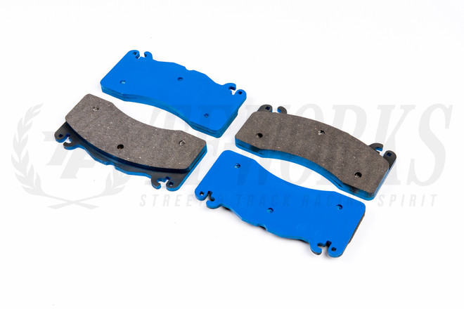 G-LOC R18 Front Brake Pads - S550 Ford Mustang GT w/ 6 Piston Brembo