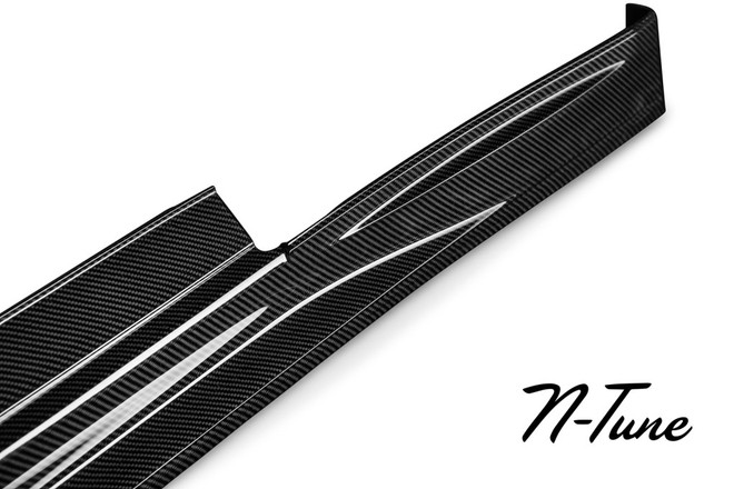 N-Tune Side Skirt, Carbon Fiber - Nissan GT-R 09-16 R35