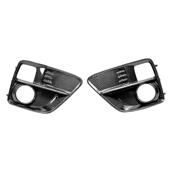 Seibon Carbon Fiber Fog Light Surrounds (pair) -15-16 Subaru WRX /STI