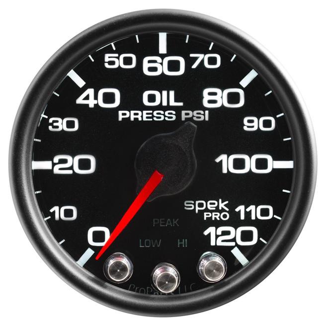 AutoMeter Spek-Pro Black - Oil Pressure 52mm